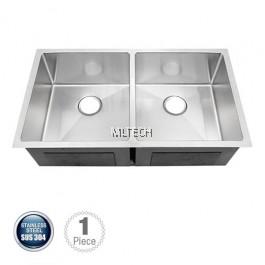 AMKS-8548 Undermount Double Bowl Kitchen Sink C/W S/S Waste