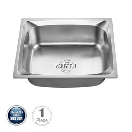 AMKS-624823 Top Mount Single Bowl Kitchen Sink With S/S Waste