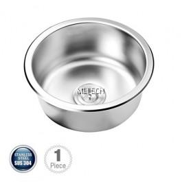 AMKS-424220 Single Bowl Kitchen Sink Round Shape With S/S Waste