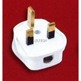 13A & 15A Plug Tops - 13A Non-Resilient, White
