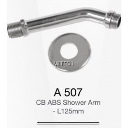 A507 CP ABS Shower Arm - L 125mm