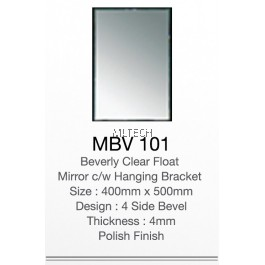 MBV101 Beverly Clear Float Mirror c/w Hanging Bracket