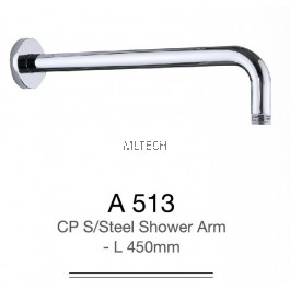 A513 CP S/Steel Shower Arm - L 450mm