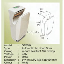 GSQ70A - Automatic Jet Hand Dryer