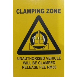 Clamping Signage
