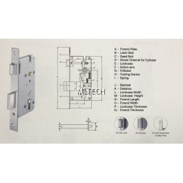 Mortise Lock - AML-8525/SL