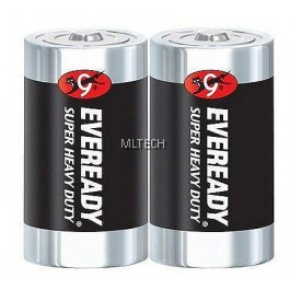 Eveready - D Battery 1 card x 2 pcs (x 6)