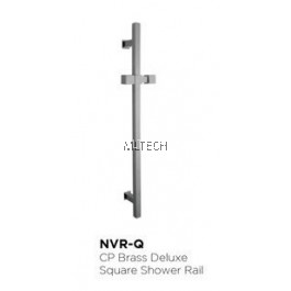 Novatec CP Brass Deluxe Square Shower Rail - NVR-Q