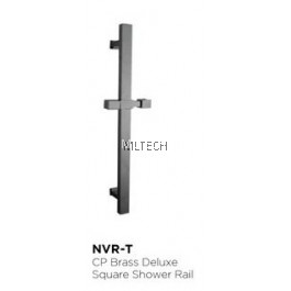 Novatec CP Brass Deluxe Square Shower Rail - NVR-T