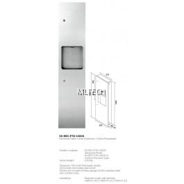 Novatec Recessed Paper Towel Dispenser / Waste Receptacle - SS-REC-PTD-1400S