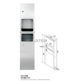 Novatec Receptacle Paper Towel Dispenser 2-in-ONE - SS-REC-2+1