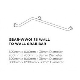 Novatec Grab Bar Series SS Wall To Wall Grab Bar
