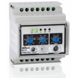Mikro DIN Rail Type Over And Under Voltage Relay - MX210-415V