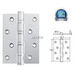 "Door Hinges - SGDH-743025-SS 4BB 4"" x 3"" x 2.5mm SUS304 Hinge"