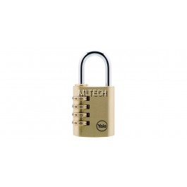 Y150/40/130 - Yale Class Series Indoor Solid Brass Combination Padlock 40mm
