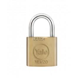 Yale YE1/20/122/1 Essential Series Indoor Solid Brass Padlock