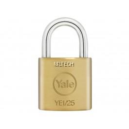 Yale YE1/25/113/1 Essential Series Indoor Solid Brass Padlock 25mm