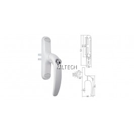 Multipoint Handle - SGWMH-WH869K-SA/28mm Euro Handle with Key & Single Accessories