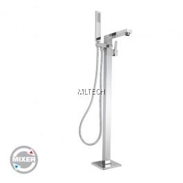 AMMX-R09 Brass Floor Standing Shower Rail Set - Mixer